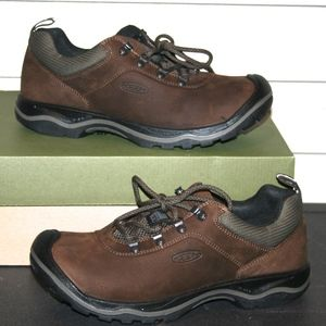 KEEN RIALTO LACE  9.5 Men's Brown Leather Shoe NEW